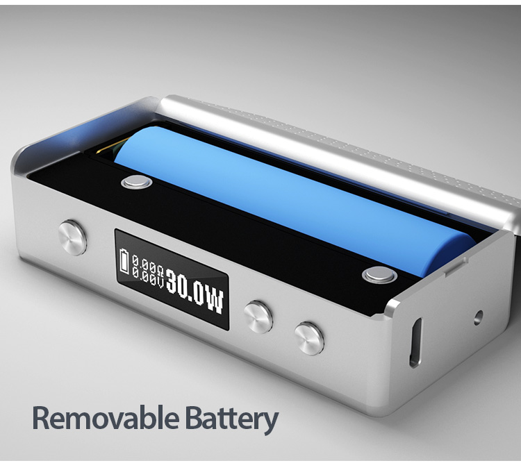 This device takes 1x Rechargeable 18650 Battery