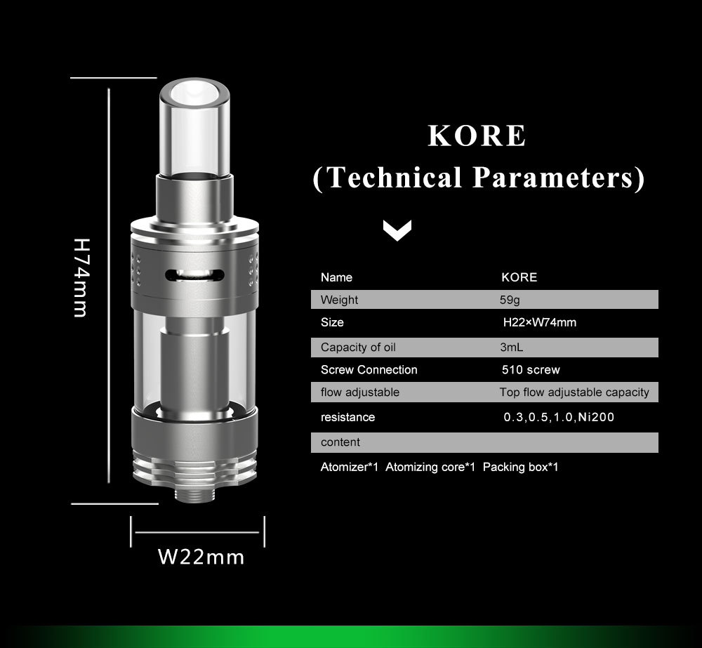 Kore Sub Ohm Clearomizer Unlimited Ecigs