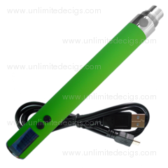 EGO Variable Voltage USB LCD Battery - Green